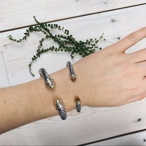 David Yurman   Two-Tone Cable Classic Bracelet